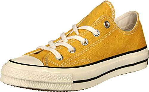 Converse Unisex Adults Taylor Chuck 70 Ox Low-Top Sneakers, Multicolour (Sunflower/Black/Egret 721), 7.5 UK