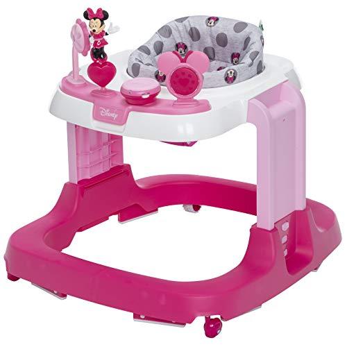 Disney Baby Ready, Set, Walk! DX Developmental Walker, Minnie Grey Dots