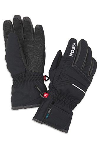 ROSSI Kinder Handschuhe - Ski Kinderskihandschuhe,Skihandschuhe,Handschuhe, schwarz-grau,5