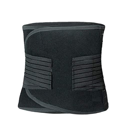 LBBL 6XL Männer Schweißgürtel Abnehmen Taille Cinchers Plus Size Neopren Abdominal Shaper Gürtel Bauch Trimmer Unterstützung Rücken (Color : As pic, Size : 4XL Waist 130 143cm)