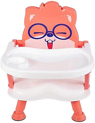 LIANYANG Babyhochstühle Für Fütterung Kind Hocker Baby Esstisch Einstellbare Babyhochstuhl Abnehmbare Schale Sitzerhöhung Tragbare Fütterungsschale Gepolsterter Sitz(Farbe:Rosa)