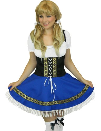 Yummy Bee - Déguisement Oktoberfest Femme - Costume Bavaroise Dirndl - Bas Blanc - Grande Taille (44-46)