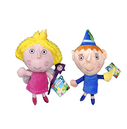 Il Piccolo Regno di Ben e Holly - Peluches Ben & Holly qualità Super Morbida (20cm, Confezione Ben & Holly)