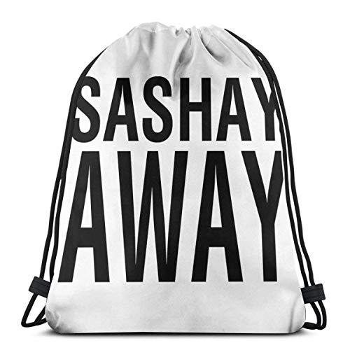 Sashay Away Blk Waterproof Foldable Sport Sackpack Gym Bag Sack Drawstring Backpack