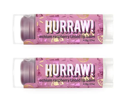 Hurraw Echium Raspberry Tinted Lip Balm, 2 Pack