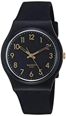 Originals gent 2013 34 mm round case with push/pull crown 3 bar water resistance Free battery exchange at Swatch retail locations 2 year