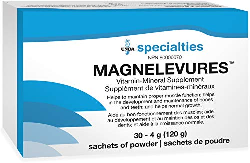 UNDA - Magnelevures - Vitamin Mineral Supplement to Support Cardiovascular and Nervous System* - 30 Sachets