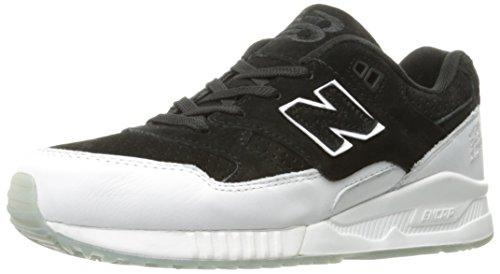 New Balance Men's 530 V1 Sneaker, Black/White/White, 9 D US