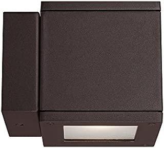 WAC Lighting WS-W2504-BZ Rubix LED Outdoor Wall Light Fixture, Dark Sky Friendly Single Light, 3000K, Bronze