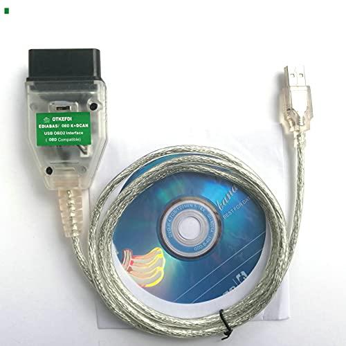 Inpa KDCAN OBD,K+Dcan OBD2 NCS Expert Rheingold Ediabas OBDII Cable Escáner de código de interfaz