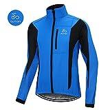 OUTON Winddichte Fahrradjacke Männer Radsport-Jacken für Herren MTB Mountainbike Jacket Visible reflektierend Fleece Warm Jacket (Blau, XXL)