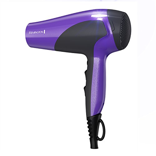 Remington D3190 Damage Protection Hair Dryer with Ceramic + Ionic + Tourmaline Technology, Purple
