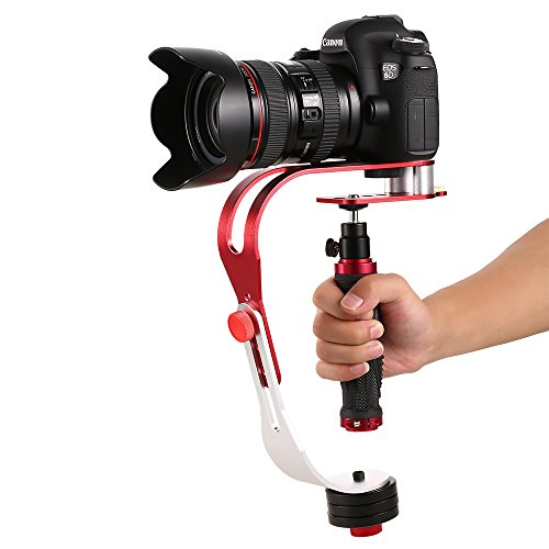 Pro Handheld Video Stabilizer Steady Cam Motion Steadicam Cam for GoPro DSLR DV SLR Digital Camera Camcorder Canon Nikon Sony with Smartphone Holder up to 2.1 lbs