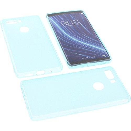 foto-kontor Tasche für Archos Diamond Omega Gummi TPU Schutz Handytasche blau