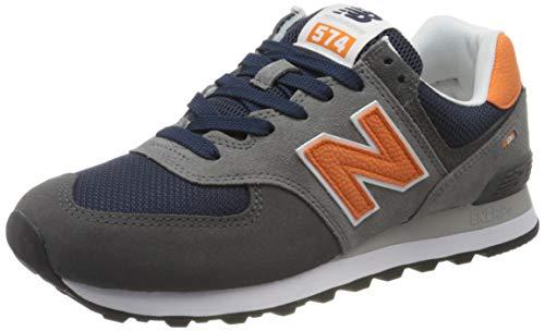 New Balance Herren 574v2 Sneaker, Grau (Grey/Navy Eaf), 40.5 EU