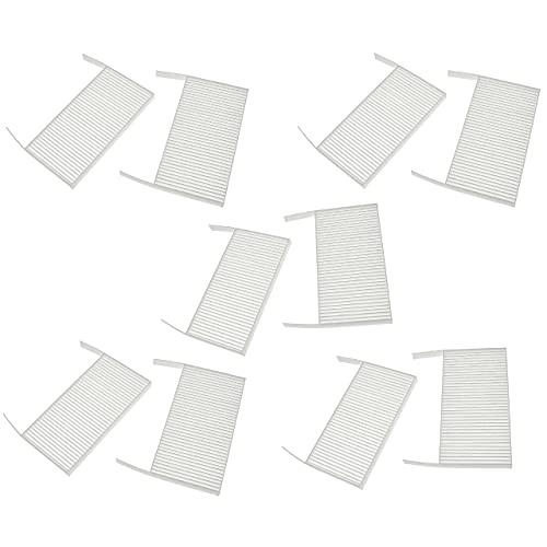 vhbw Set de filtros reemplaza Zehnder 527005190 para Unidad de ventilación - Filtro de Aire G4 / F7 (10 uds.), 19 x 10 x 3 cm, Blanco