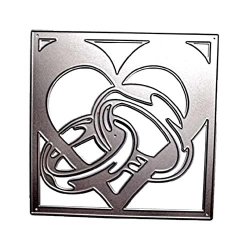 Cuore Anello Metallo Fustelle Stencil Scrapbooking Album fai da te Timbro Carta Carta Goffratura Decor Artigianato fustelle per la creazione di carte parole fustelle fustelle per la creazione di carte