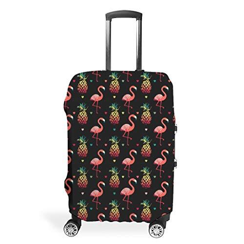 Funda para equipaje de viaje con diseño de flamenco, resistente, 4 tamaños, para muchos carritos, White (Blanco) - FFanClassic-XLXT-24