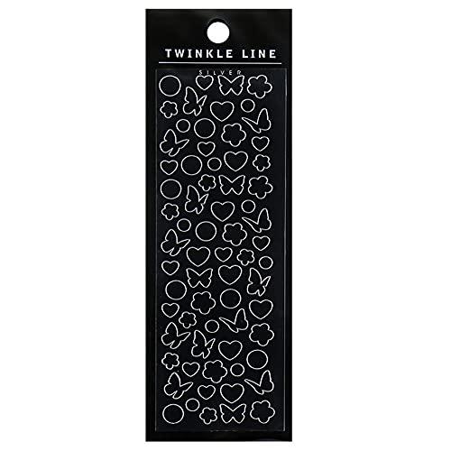 Jorzer Adesivo Decorativo del Nastro della Farfalla dell'oro Mini Adesivi Decorativi Valentino Craft Trasparente Bronzing Decorazione della Farfalla per Foto Fai da Te Artigianato Scrapbook Style 2