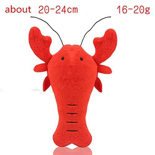 babyzhang Fleece Squeak Toy für kleine Hunde Cute Crayfish Crab Typ Pet Dogs Sounding Toys Katze Fisch Welpen Knochen Quietschendes Seil Spielzeug, Typ1