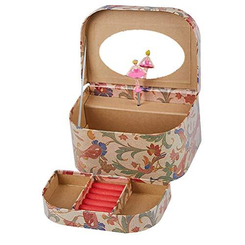 TOYANDONA Musik-Schmuckkästchen für Make-up, Spieluhr mit herausziehbarer Schublade und Schrauben-Design, Spieluhr, Ballerina Schmucketui für Mädchen und Freundinnen