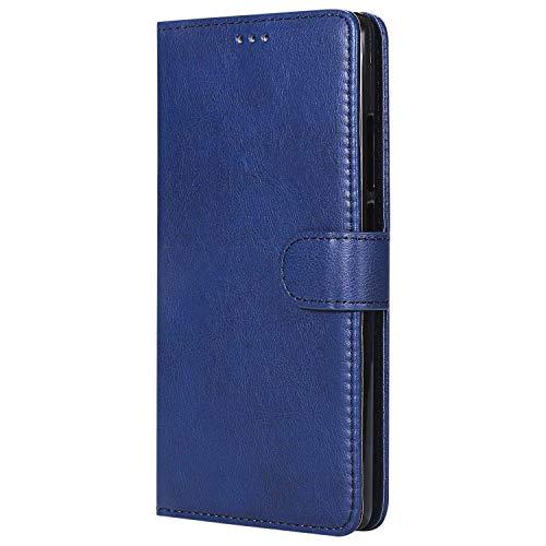 Bear Village® Hülle für Huawei Mate 8, Flip Leder Handyhülle Tasche mit Kartensfach, TPU Innere Ledertasche, 360 Grad Voll Schutz, Blau