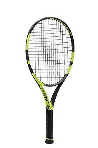 Babolat Pure Aero Junior 25inch Negro/Amarillo Raqueta de tenis, 4_1/8, Factory Strung