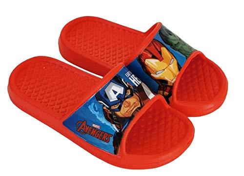 Flip-Flop Avengers Avengers Marvel Chaussures de plage ou de piscine pour enfant - Rouge - rouge, 30/31 EU EU