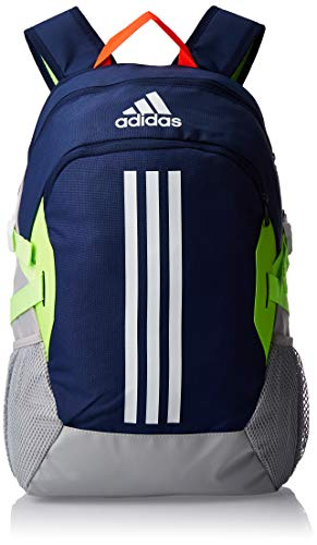 adidas Power V Backpack, Unisex Adult, Unisex_Adult, Daypack, FJ9254, Tech Indigo / Shock Yellow, one Size