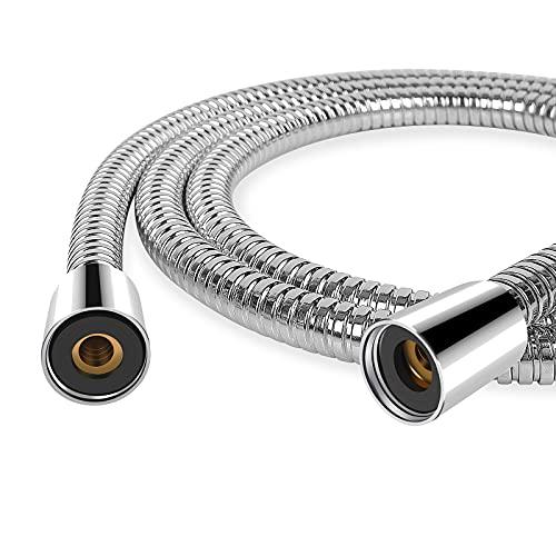 ProPerhome Edelstahl Brauseschlauch 150CM Premium Universal Duschschlauch,Doppeltem Wasserauslaufsicher ,Sofort Installation ,Metallschlauch mit Drehwirbel (1.5)