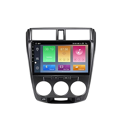 ADMLZQQ Android Doble DIN Radio De Coche Navegacion GPS para Honda City 2008-2013 Coche Reproductor MP5 Radio FM Enlace Espejo Control del Volante con Cámara Trasera,M600 6+128g