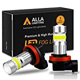 Nissan 1000 Series Accessory Lighting - Alla Lighting 2800lm H8 H11 LED Fog Lights Bulbs Xtreme Super Bright High Power COB-72 Cars Trucks H16 H11 LED Foglights DRL Replacement, 6500K Cool Xenon White