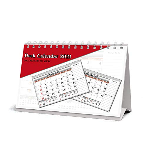 2020 En måned at se UK Stand Alone Desk Office Tabel Kalender Planner af Arpan (2020 Desk-Top)