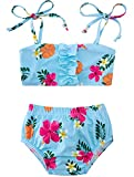 Baby Girls Bikini 12 18 Month Hawaii Seaside Pool Tankini Bathsuit Floral Tube Top Swimsuit Gift for Babe Kid