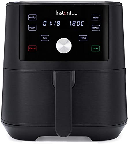 Freidora de aire Instant Pot Vortex 4 en 1 5.7L - Freidora de aire saludable, hornear, asar y recalentar con 1700W de potencia