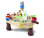 FUN PIRATE THEME - Ahoy me hearties! Creative play is the name of the game with this fantastic pirate-themed water table! SQUIRTING CANNON - Little ones will love learning to squirt water from the cannon, and creating strong tidal currents with the s...