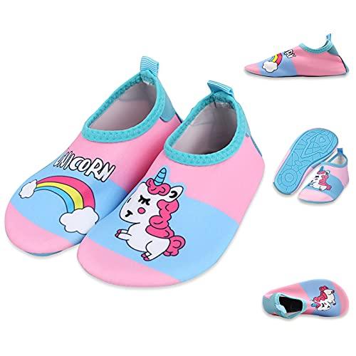 AOMIAO Zapatos Unisex-Niños, Escarpines niña, Zapatos de Playa Bebe para Playa Piscina natación Parque Acuático