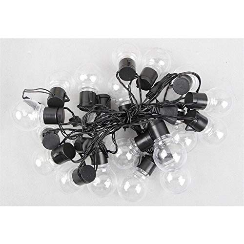 NKIE Safety Outdoor Lighting, Led Outdoor Spherical Light String 20 Bulbs Retro Hanging Fairytale Wedding Lights Decoration Outdoor (Color : Clear)