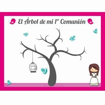 Cuadro ARBOL Huellas Personalizado COMUNION