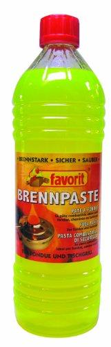 Favorit Brennpaste; geeignet für Sicherheitsbrenner; reiner Bio-Alkohol; verbrennt rußfrei; 1 L Flasche - 1805
