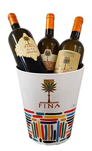 Sicilia Bedda - Box Degustazione Vini Siciliani in Elegante Suaglass - KIKE/TAIF/CHARDONNAY - 3 Bottiglie da 750 Ml