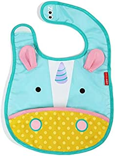 Skip Hop Zoo Little Kid and Toddler Tuck-Away Water Resistant Baby Bib, Unicorn