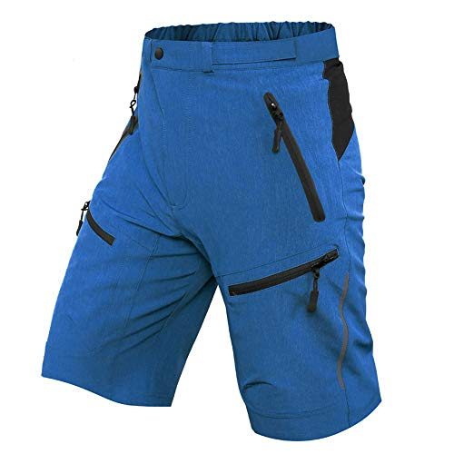Ally MTB Hose Herren Radhose, Mountainbike Hose Fahrradhose Herren Kurz, Outdoor Sport Herren Radlerhose MTB Bike Shorts (Blau, M/cm(Waist:79-84,Hip:90-95))