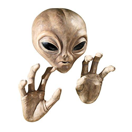 Design Toscano Roswell, der Alien, Schild