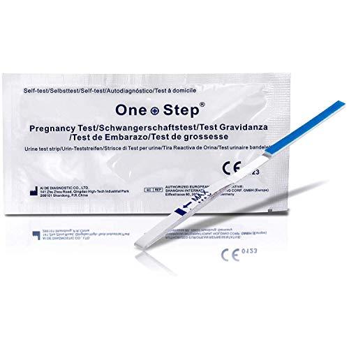 Un Paso® 20X altamente sensible 10mIU Tiras de Prueba de embarazo (pruebas hasta 6días antes)