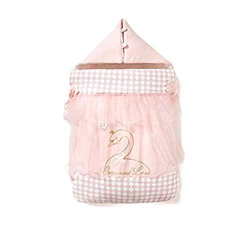 Baby Winter Deken voor kinderwagens Baby Anti-Startled Handdoek Baby Katoen Swaddle Baby Slaapzak Vier Seizoenen Winter 0-3 Maanden (Kleur: Bruin) Rosa