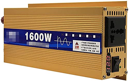 KONGLZG Inversor de alimentación DC 12V ~ 72V AL AC 220V Transformer Cargador de Coche Adaptador con Enchufe de 3 Clavijas