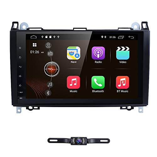 9 Inch Android 9.0 Car Stereo Head Unit for Mercedes-Benz W169 W245 W639 Vito/Viano W906 Sprinter 2500/3000 VW Crafter 2006 Onwards, Support GPS Navigation, Radio, Bluetooth, Multimedia System