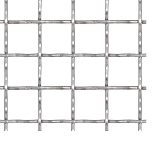 Drahtgitter | Wellengitter Edelstahl Gartenzaun 4 Eck Geflecht Drahtzaun | Länge und Höhe wählbar (50×50 cm 11×11×2 mm)