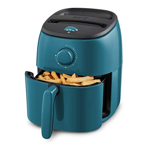 Dash Tasti-Crisp Electric Air Fryer + Oven Cooker with Temperature Control, Non-stick Fry Basket, Recipe Guide + Auto Shut Off Feature, 1000-Watt, 2.6 Quart - Teal